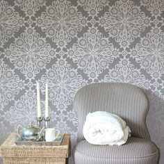 IRISH LACE All over Wall Stencil • Reusable Stencils • DIY •Home Decor •Interiors • Feature Wall • Wallpaper alternative