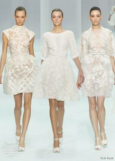 Love these...  Elie Saab Spring 2012 couture bridal - Short Wedding Dresses