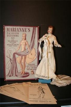 Vintage 1940's Marianne Simplicity Latexture Mannequin Doll w Patterns Box | eBay