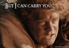 """""""But I can carry you."""" Oh man. CRYINGGGG! CRYING ALL THE TEARS!"""