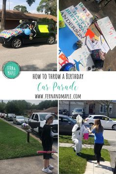 Celebrate birthdays safely by throwing a birthday car parade! Kids and adults will love these fun car decorations and activity ideas from fernandmaple.com!