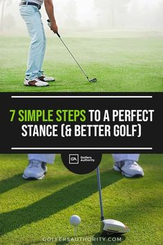 The golf stance is one of the most crucial fundamentals of the game. Our newest guide gives you step-by-step instructions to help you hit the perfect shot Golf Terms, Golf Stance, Volleyball Tips, Golf Score, Golf Putting Tips, Golf Chipping, Driving Tips, Golf Instruction, Golf Tips For Beginners