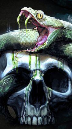 Breathtaking skull artwork. I really, really love this one.