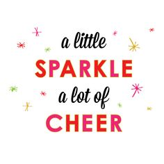 a little sparkle | a lot of cheer