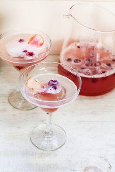 Rhubarb-Prosecco Spritzer {Katie at the Kitchen Door}