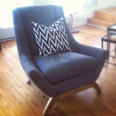 Just got this amazing chair in from @DwellStudio just in time for install #HowYouDwell via @SarahStaceyInteriorDesign