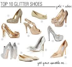 gold glitter bridesmaid shoes - Google Search