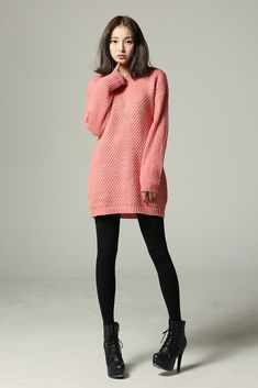 Round knit dress($44.84)-Dresses by Celes. if the sweater were a dark color it would be perfect!