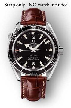 LEATHER-DEPLOYMENT-WATCH-STRAP-FOR-OMEGA-SEAMASTER-SPEEDMASTER-18-20-22mm-UK