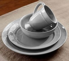 Cambria Dinnerware Set - Gray #potterybarn