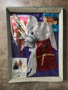 Vintage Barbie Ken Doll #773 King Arthur – NRFB – 1964 Ken Barbie Doll, Barbie And Ken, Wolf Costume, Little Theatre, The Originals Tv, Brown Flowers, Theatre Costumes, Christmas Catalogs, Arabian Nights