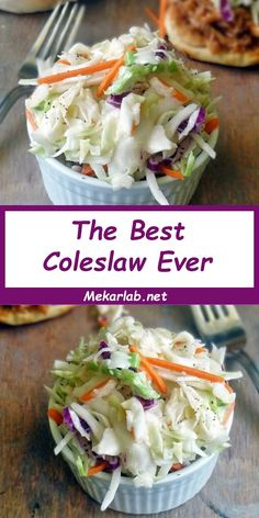The Best ColeSlaw Ever is surprisingly simple to make and uses very few ingredients. I LOVE the sweet and tangy coleslaw dressing in this recipe. It is pure coleslaw perfection! Coleslaw Dressing, Coleslaw Mix, Slaw Recipes, Healthy Recipes, Easy Recipes, Healthy Cooking, Delicious Recipes, Healthy Food, Side Dish Recipes