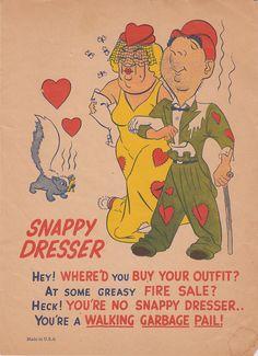 Vintage Vinegar Valentine Illustrated Poster Print - Snappy Dresser. $8.95, via Etsy.
