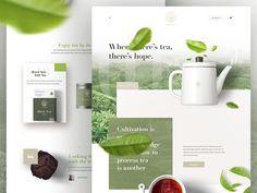 Caykur - Redesign Landing Page by Alper Tornaci - Dribbble Website Design Inspiration, Amazing Website Designs, Web Design Tips, Graphic Design Tutorials, Design Ideas, Design Layouts, Flat Design, Website Header Design, Restaurant Web