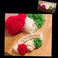 #crochet #instacrochet #crocheting #instacute #headband #Mexico #cincodemayo #celebration #handmade #custommade #diy #yarn #hobby #craft #crafting #red #white #green #girls#accessories #cute #instadaily by #me #addicted by mariel_2282