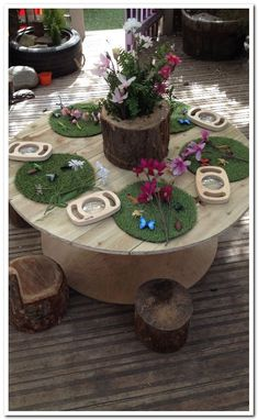 Atelier Area - Insects and magnifying glasses on grass spots Reggio Classroom, Outdoor Classroom, Preschool Classroom, Teaching Kindergarten, Eyfs Outdoor Area, Outdoor Play, Curiosity Approach Eyfs, Childcare Rooms, Childcare Environments