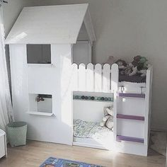 51 Cool Ikea Kura Beds Ideas For Your Kids Rooms. The Ikea beds are elegant furniture among the many product lines found at the Ikea stores in different countries. Ikea Loft, Ikea Kura Hack, Murphy-bett Ikea, Ikea Kura Bed, Murphy Bed Plans, Kids Bunk Beds, Big Girl Rooms, Decorate Your Room, Kids Bedroom