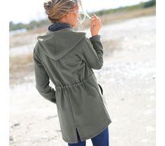 Meltonová bunda   blancheporte.cz #blancheporte #blancheporteCZ #blancheporte_cz  #fall #autumn #podzim #bunda Raincoat, Jackets, Fashion, Rain Jacket, Down Jackets, Moda, Fashion Styles, Fashion Illustrations