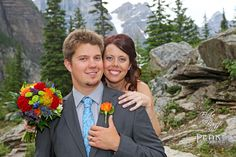 Katie & Jesse/ July 26/12 / Moraine lake - Lake Louise, Alberta / Photography by Malcolm Carmichael - Peak Photography