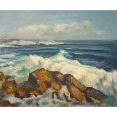 Check out this item at One Kings Lane! Breaking Waves, 1970