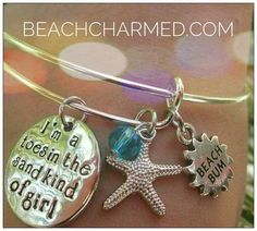 Toes in the sand kind of girl bracelet @ BeachCharmed.com #summerscoming #imperialbeachlocals #sandiegoconnection #sdlocals #iblocals - posted by Beach Charmed  https://www.instagram.com/beachcharmed. See more post on Imperial Beach at http://imperialbeachlocals.com