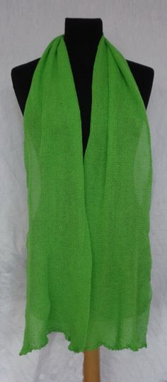 Green Light weight Shawl  Icelandic Production by HuldaGK on Etsy