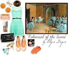 """""Rehearsal of the Scene"" by Edgar Degas"" by theekissoflife on Polyvore"