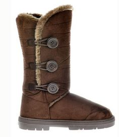 3c8db6df4f58ae New Triple 3 Buttoned Winter Boot that are Fully Fur Lined Flat as well as  in Chestnut Brown