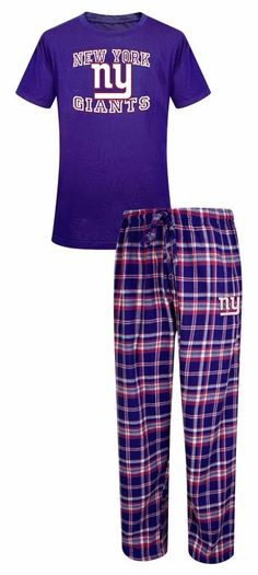 New York Giants NFL Men's Shirt and Pajama Pants Flannel PJ Sleep Set 2XL 44-46 -- Awesome products selected by Anna Churchill