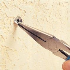 How to remove a hollow wall anchor without wrecking your wall.