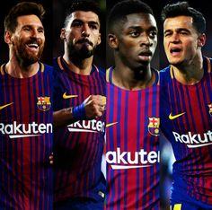 Messi, Suárez, Dembélé y Coutinho