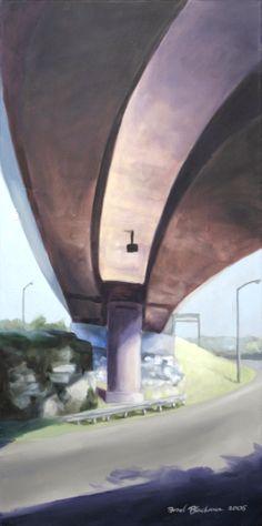 "Brad Blackman, ""440 Over 40"" Oil on Canvas, 40 x 20 inches 2005"