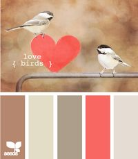 Love this, neutral with a bright pop of color