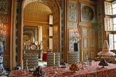 dining room at Vaux le Vicomte