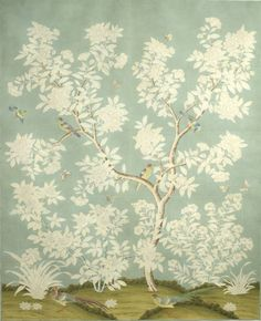 "Beautiful wallpaper. Gracie Studio & ""Hampton Garden"" on Million Dollar Decorators!|Faiella Design // Blog"