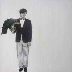 el último hombre en pie. 150 cm x 150 cm.
