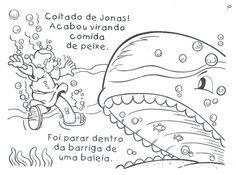 Historinha bíblica de Jonas e o grande peixe para colorir, pintar, imprimir! História de Jonas para colorir - Espaço Educar desenhos para colorir