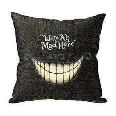 AmazonSmile: Onker Funny We Are All Mad Here Personalized 18x18 Inch Square…