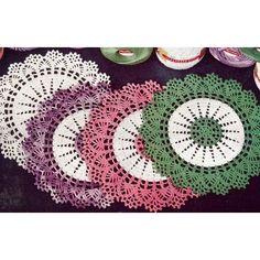 Thread Crochet Doily Patterns | Vintage Crochet PATTERN to make Thread Doily Mat Motif