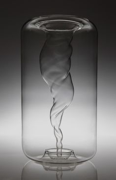 Tornado Hand Blown Glass Vase.