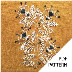contemporary embroidery kits and embroidery patterns. French Knot Embroidery, Ribbon Embroidery Tutorial, Hand Embroidery Kits, Border Embroidery Designs, Floral Embroidery Patterns, Embroidery Shop, Linen Stitch, Contemporary Embroidery, Couture