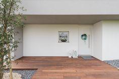 Decking esterno , ingresso