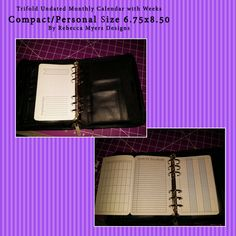 Trifold Fill in the DatesCompact/Personal Calendar Filofax Franklin Covey Day Timer Day Runner