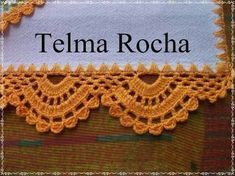 Resultado de imagem para barradinhos em croche para panos de prato telma rocha croche Crochet Boarders, Crochet Blocks, Crochet Stitches Patterns, Knitting Stitches, Crochet Designs, Stitch Patterns, Crochet Mandala, Crochet Doilies, Crochet Lace