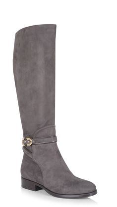 La Canadienne Official Site   Free Shipping Suede - Flat - Boots - Pandore - Fumo Boots