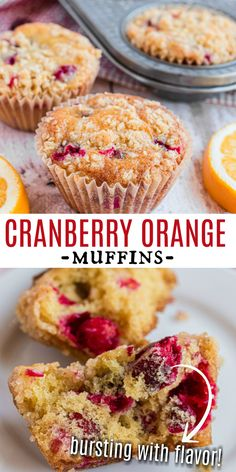 This easy muffin recipe is perfect for Christmas breakfast or all year round! Cranberry Orange Muffins with a hint of orange and a crumb topping are just like your favorite coffee shop baked goods but even better. Fun Baking Recipes, Pastry Recipes, Easy Cake Recipes, Best Dessert Recipes, Muffin Recipes, Brunch Recipes, Sweets Recipes, Bread Recipes, Yummy Recipes