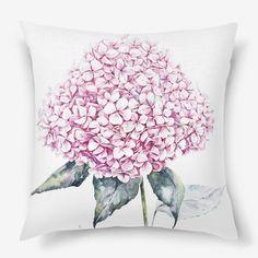 Подушка «Розовая гортензия»