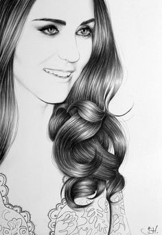 ☆ Duchess of Cambridge Portrait :¦: By Artist Ileana Hunter ☆