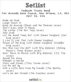 Tedeschi Trucks Band Setlist New Orleans Jazz & Heritage Festival 2016 2016