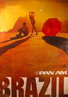 PanAm Airlines Brazil Travel Poster